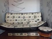 Продам диван б/у с банкеткой в хорошем состоянии